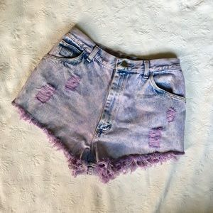 Vintage🍇 Wrangler High Ride Cut Off Jean Shorts